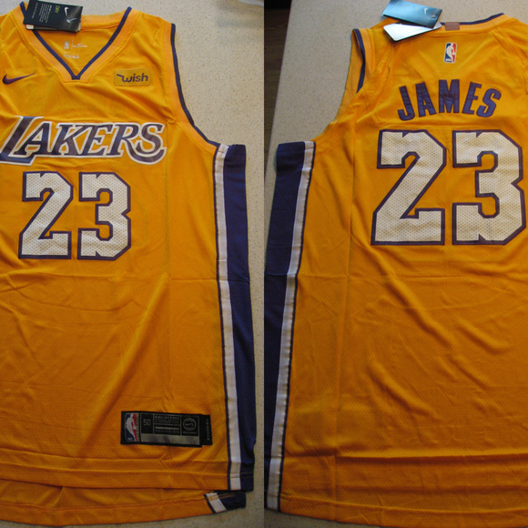 low priced d748d b3b15 New Lebron James Lakers Gold Swingman Wish Jersey